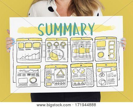 Summary Advertisement Concept