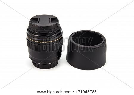 The camera lenses isolated on white background.