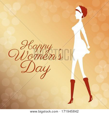 happy womens day poster bubbles background vector illustration eps 10