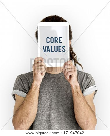 Core values word young people