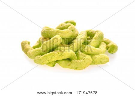 green snack isolated on the white background