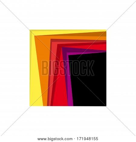 Vector abstract windows, isolated in white background