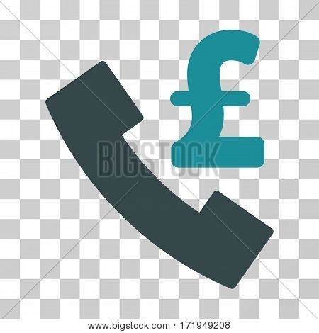 Pound Payphone vector pictograph. Illustration style is a flat iconic bicolor soft blue symbol on a transparent background.