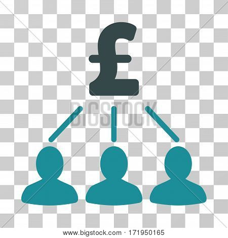 Pound Shareholders vector pictogram. Illustration style is a flat iconic bicolor soft blue symbol on a transparent background.