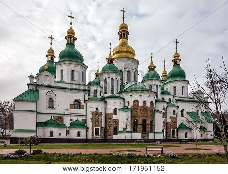 Kiev, Ukraine. Saint Sophia Monastery Cathedral, UNESCO World Heritage