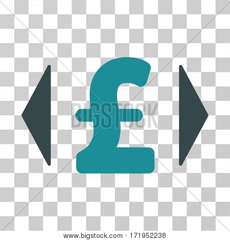 Regulate Pound Price vector icon. Illustration style is a flat iconic bicolor soft blue symbol on a transparent background.