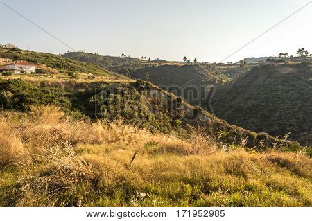 Greek Rural Landscape With Gully
