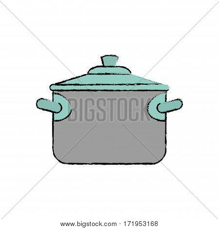Saucepan cookware equipment icon vector illustration graphic design