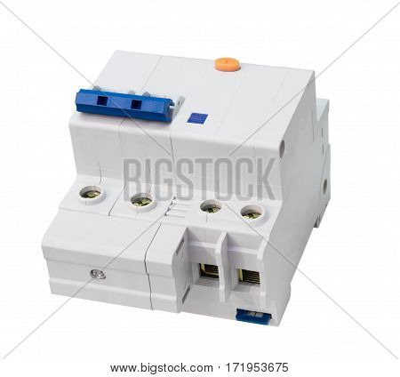 Electric circuit-breaker isolated on a white background