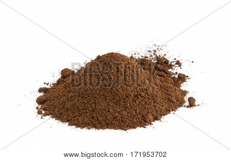 Medium Roast Fine Grinding Coffee Isolated