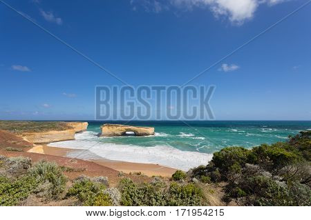 London Arch is an offshore natural arch formation in the Port Campbell National Park, Australia. The arch is a significant tourist attraction along the Great Ocean Road near Port Campbell in Victoria.