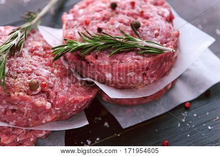 The Formation Of Ground Beef For Grilling Burger