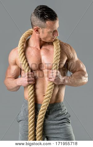 Powerful Man With A Rope