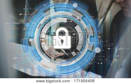Lock Security Business Graph Icon