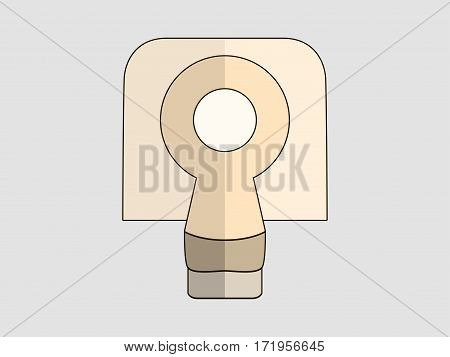 Tomography Flat Icon . Magnetic Resonance Imaging. Vector Illustration