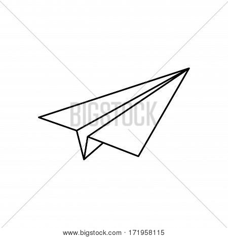 Paper plane origami icon vector illustration graphic design
