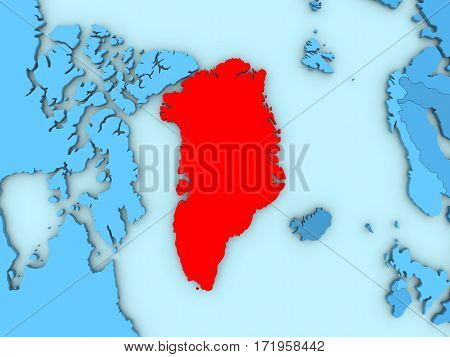 Greenland On 3D Map