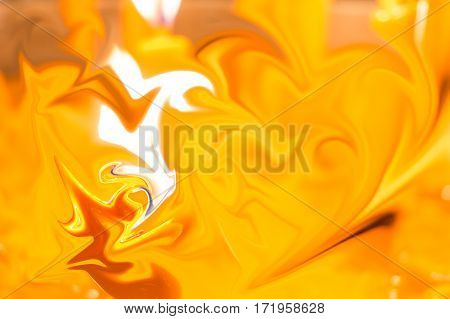 Yellow color curve pattern texture abstract background