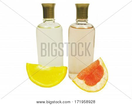 cosmetics colognes with orange and grapefruit extracts