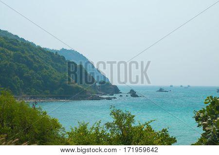 Low Aerial View Of Trunk Bay, Us Virgin Islands