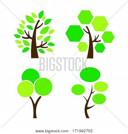 Tree Icon vector illustration on white background