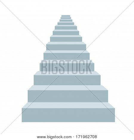 detailed illustration stairs vector illustration on white