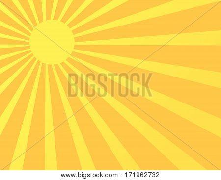 Sun Sunburst Pattern. Vector illustration art design
