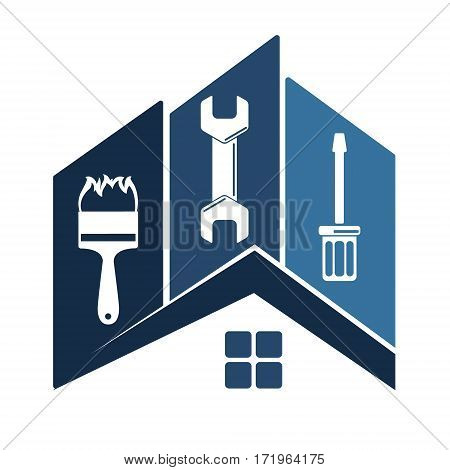 Home repair with the tool vector illustration