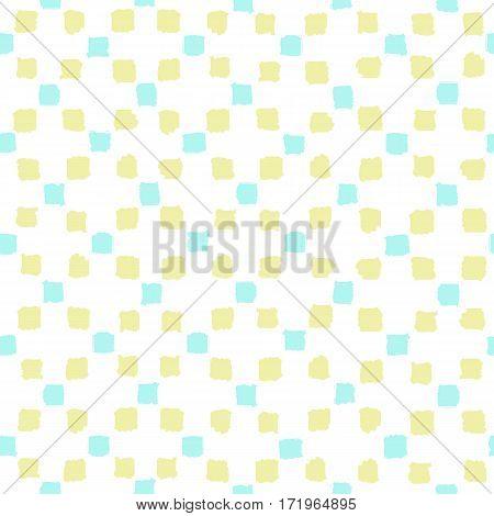 Grunge geometric seamless pattern. Vector hand drawn background