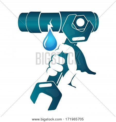 Repair water leakage from the pipe vector
