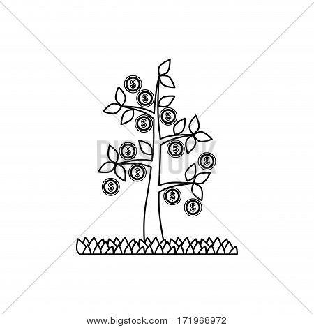 Plant of money icon vector illustration graphic design