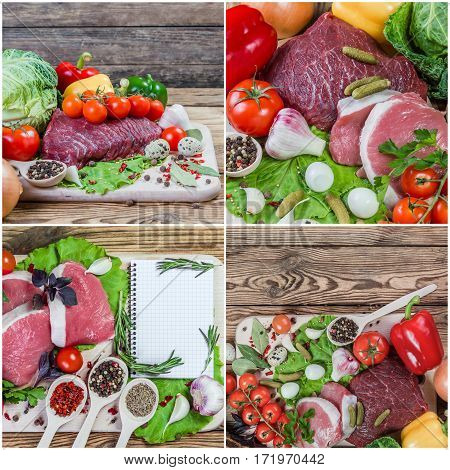 Food Backgrounds Wth Meat