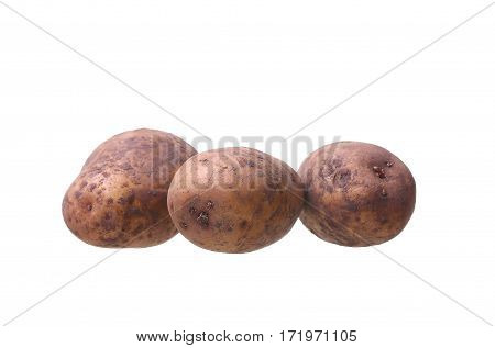 Potato Isolated On White Background Close Up