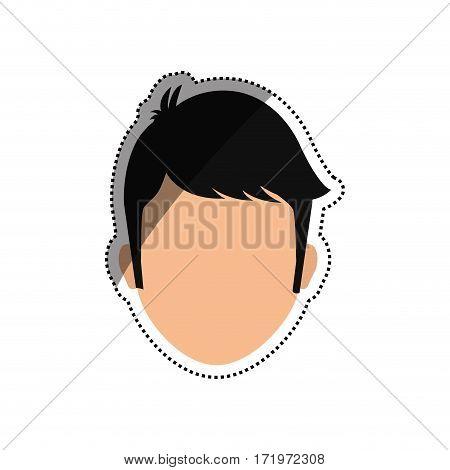 Man faceless head icon vector illustration graphic design