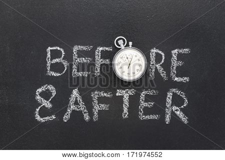 Before And After Watch