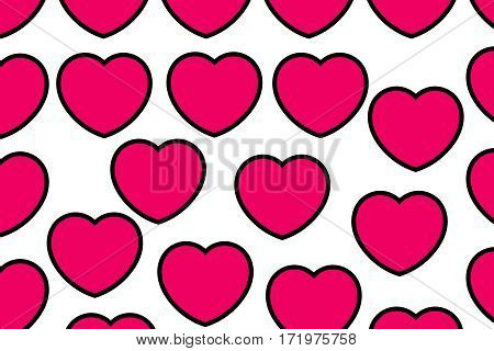 Hearts Pattern For Saint Valentine Holiday, Greeting Decoration