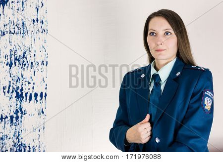 Tax inspector of the Russian Federation indoors