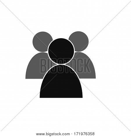 Vector isolated image of a man in a flat style on a white background. Icon for design. People on the light pouring. Abstract person. Modern man. New user. Social networks. leader outline and solid.EPS