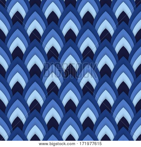 Vector abstract seamless pattern with pointed ovals . Suitable for Wallpapers, backgrounds and presentations