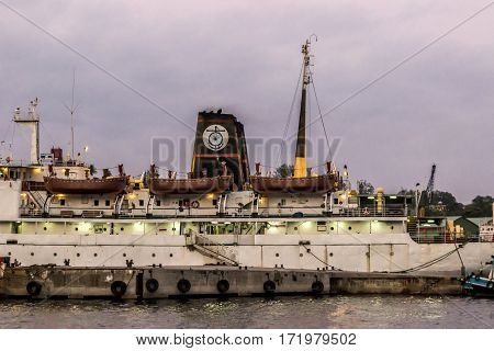 Old Rusty Ferries Still Operatet From Port Blair To Other Islands