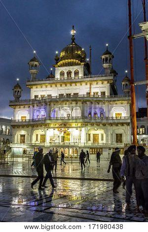 Harimandir Sahib At The Golden Temple Complex, Amritsar - India