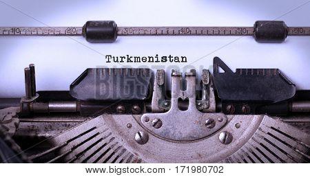 Old Typewriter - Turkmenistan