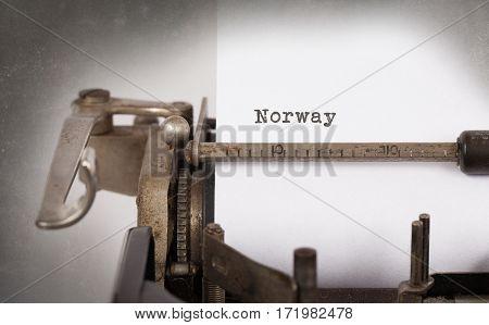 Old Typewriter - Norway