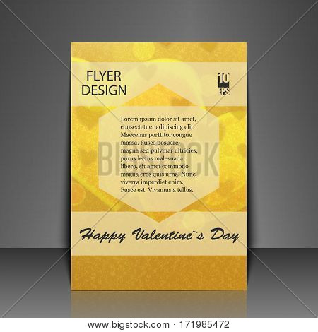 Template flyer with love background. Eps10 Vector illustration
