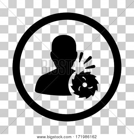Body Execution vector icon. Illustration style is a flat iconic black symbol on a transparent background.