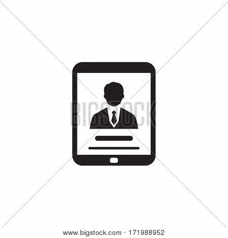 Business Profile Icon. Business Concept. Flat Design. Isolated Illustration.