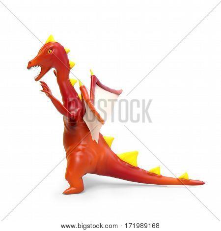 Cartoon Evil Dragon Side