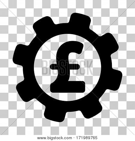 Development Pound Price vector pictogram. Illustration style is a flat iconic black symbol on a transparent background.
