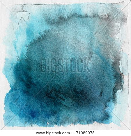 Blue grunge watercolor background or texture illustration