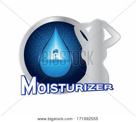 moisturizer icon vector on white background .